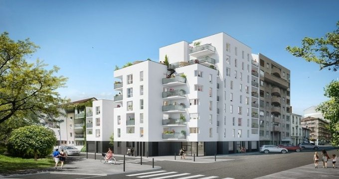 Achat / Vente appartement neuf Villeurbanne proche Gratte-Ciel et Parc des Droits de l'Homme (69100) - Réf. 786