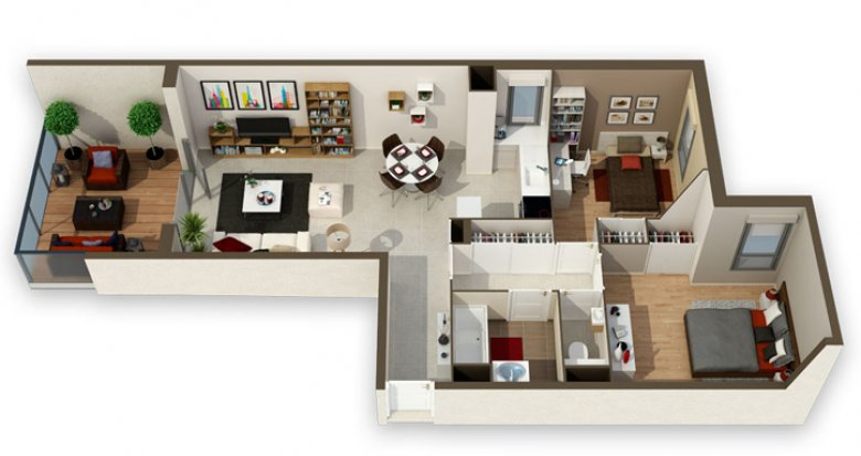 Achat / Vente appartement neuf Charbonnières-les-Bains dans domaine privé (69260) - Réf. 124