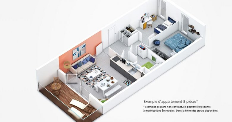 Achat / Vente appartement neuf Lyon 7 quartier des Girondins (69007) - Réf. 401