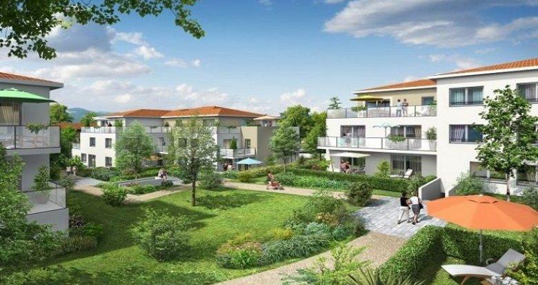 Achat / Vente appartement neuf Sainte-Foy-lès-Lyon au cœur d'un parc arboré à 15 minutes de Lyon (69110) - Réf. 1243
