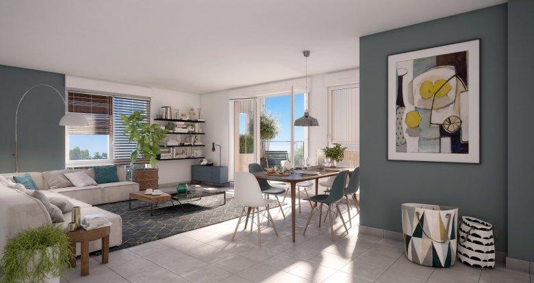 Achat / Vente appartement neuf Vaulx-en-Velin à 10 minutes à pied du métro (69120) - Réf. 3609