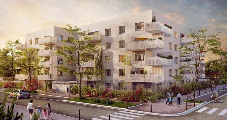 Achat / Vente appartement neuf Vaulx-en-Velin proche centre commercial Carré de Soie (69120) - Réf. 1926