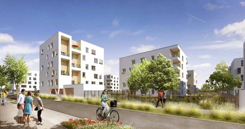 Achat / Vente appartement neuf Vaulx-en-Velin proche centre-commercial Carré de Soie (69120) - Réf. 1591