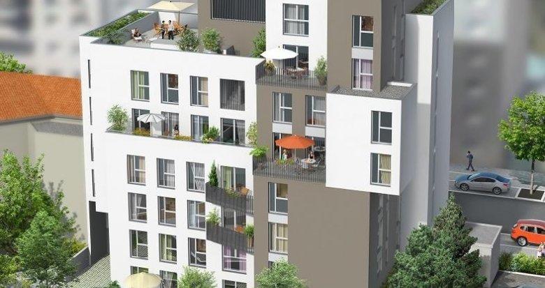 Achat / Vente appartement neuf Villeurbanne proche de Lyon Part Dieu (69100) - Réf. 1322