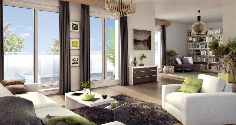 Achat / Vente appartement neuf Villeurbanne proche métro A et B (69100) - Réf. 1004