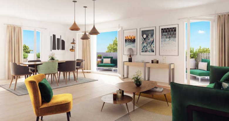 Achat / Vente appartement neuf Villeurbanne proche quartier Gratte-Ciel (69100) - Réf. 3864
