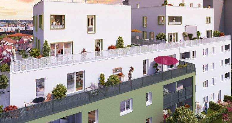 Achat / Vente appartement neuf Villeurbanne quartier Bon Coin (69100) - Réf. 2735